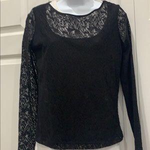 Dana Buchman  Black Lace Top